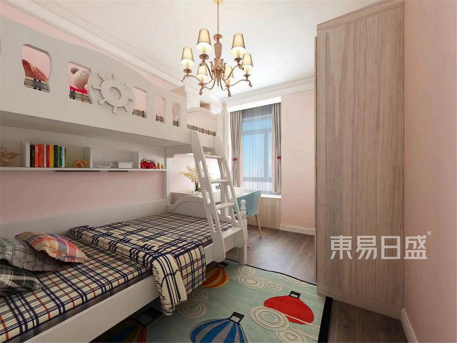 120平米郁江溪岸美式风格儿童房装修效果图