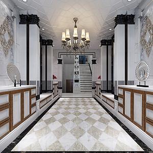 新世纪领居别墅新古典玄关装修效果图