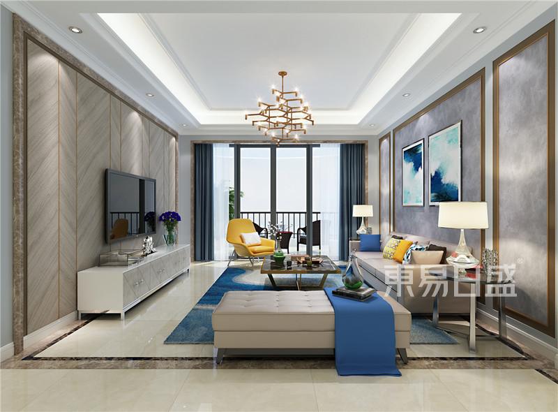 客厅现代轻奢装修效果图效果图 装修效果图大全2018图片 1153015 东