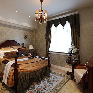 保利礼墅新中式风格卧室装修效果图