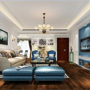 勤诚达22世纪 简美混搭 122平 三房两厅装修效果图