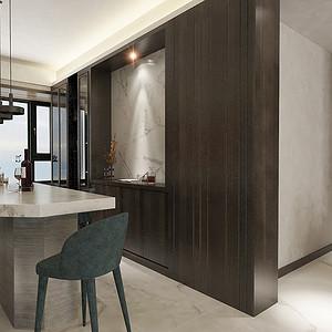 餐厅四居室-现代简约-效果图