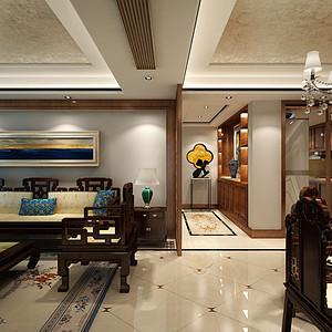 长江路九号130㎡中式风格客厅