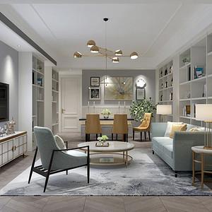 新怡家园-新美式装修风格-170平米