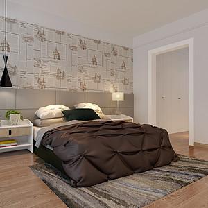 同进君望北欧183㎡卧室装修效果图