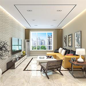 融创中心-时尚现代风格-123平米