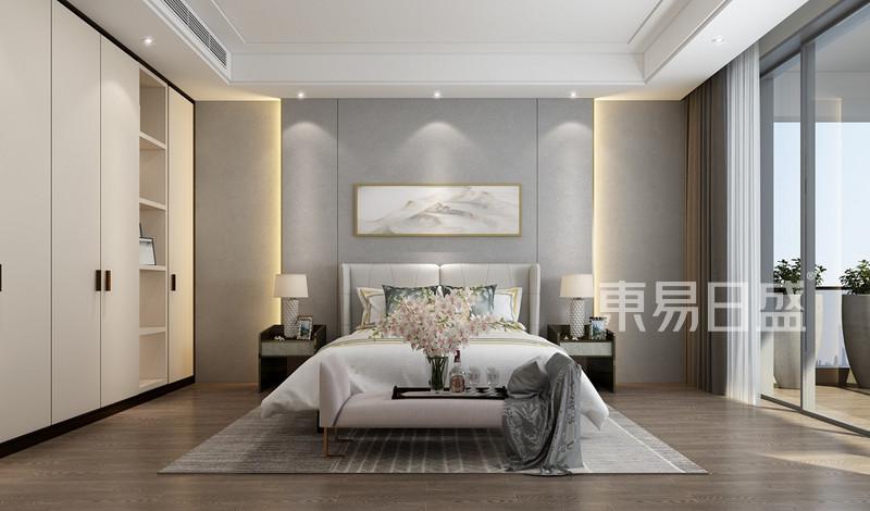 580㎡现代简约卧室装修样板间