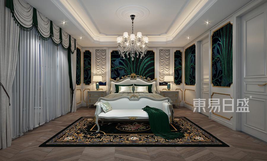 西西安别墅美式轻奢风格卧室装修效果图