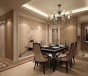 中电颐和家园122㎡简欧风格餐厅