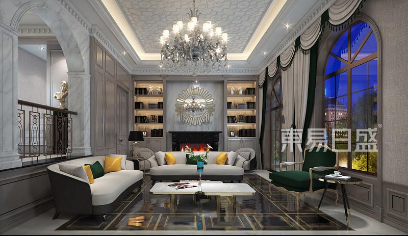 其他- 西西安别墅美式轻奢风格客厅装修效果图