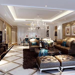 四海逸家212㎡四居室新古典风格