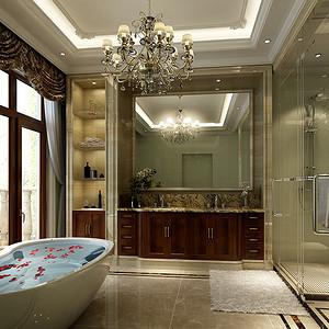 北辰红橡墅-欧式风格-卫生间