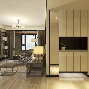 客厅三居室-新中式-效果图