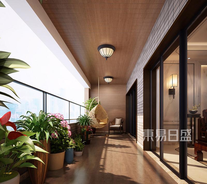 新中式 - 锦绣山河观园复式新中式阳台装修效果图