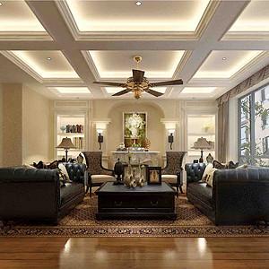 凡尔赛三期洋房+152㎡平层设计效果图+简美风格