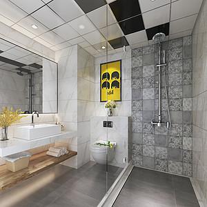 loft风格卫生间装修效果图