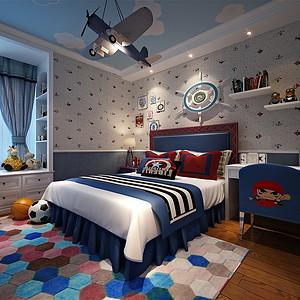 奥体新城150㎡法式风格儿童房