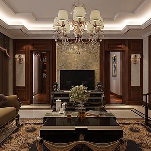外滩一号 新古典装修效果图 四室两厅 214平米