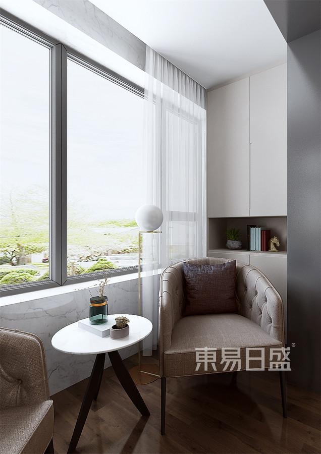 四居室-现代轻奢-卧室阳台-效果图