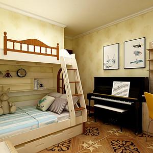 清新亮丽的新中式风格儿童房