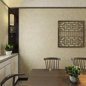 餐厅三居室-新中式-装修效果图