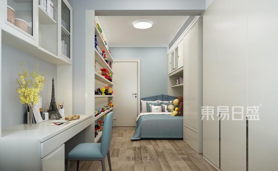 东方园博苑-现代简约风格装修案例-儿童房装修效果图