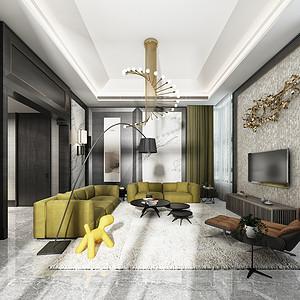 湖城大境八号地 新中式装修效果图 六室五厅五卫 530m²