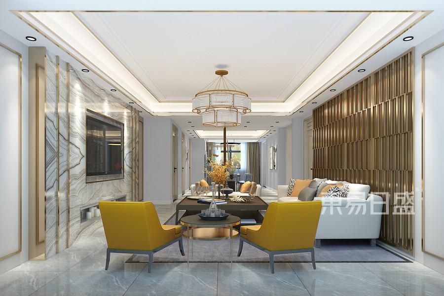 現代簡約風格客廳裝修設計效果圖_2018裝修案例圖片