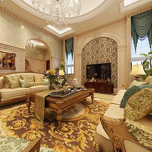 伴山湖500平米欧式别墅装修一层客厅
