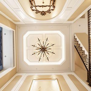 天下国际公馆简美风格320平米装修效