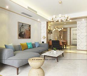 客厅三居室-装修效果图
