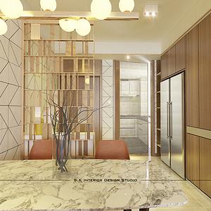 门厅三居室-装修效果图