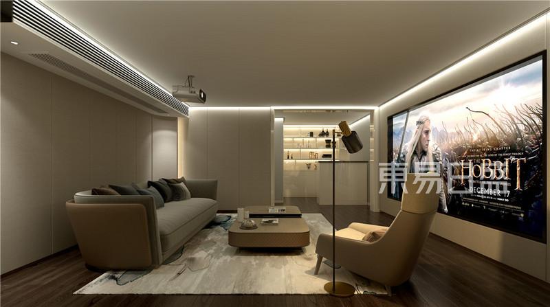 现代前卫 - 现代轻奢风格影音室别墅装修设计效果图