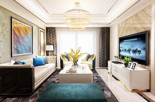 江南首府140平米美式风格