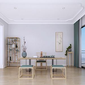 东城万达公馆现代美式茶室装修效果图