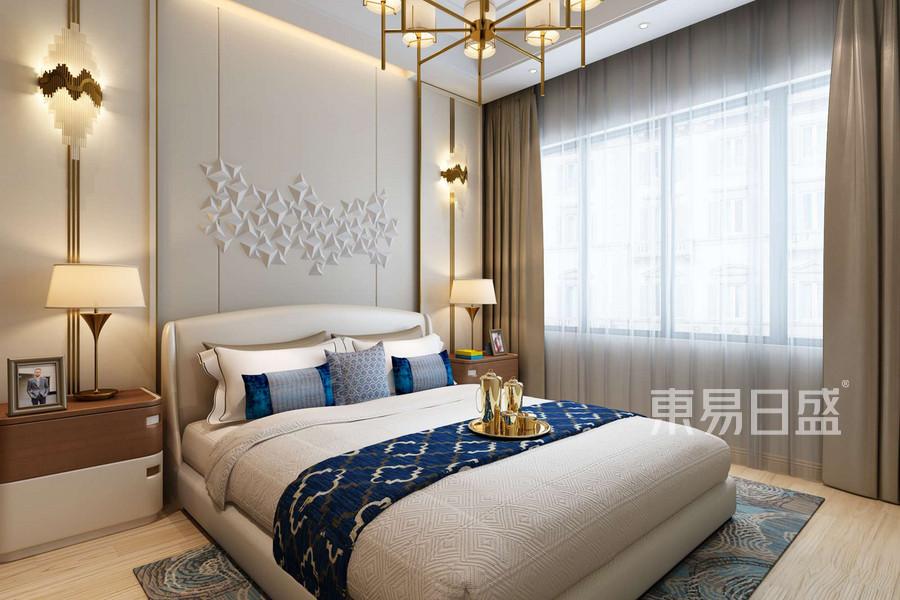 现代简约风格卧室装修设计效果图_2018装修案例图片