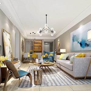 华润城 北欧风格装修效果图 90平米 新房装饰设计