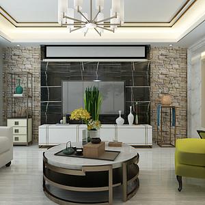 保利拉菲148㎡三室两厅新古典风格案例