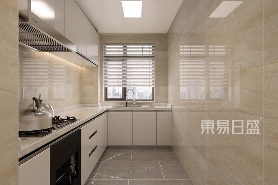 三居室-现代简约-厨房-效果图