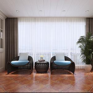 复式公寓-雅致-阳台