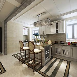 保利罗兰简欧风格厨房装修效果图