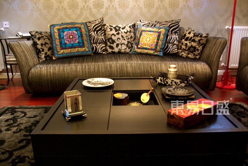 东南亚风格客厅装修实景图-雅居乐花园 东南亚风格图片