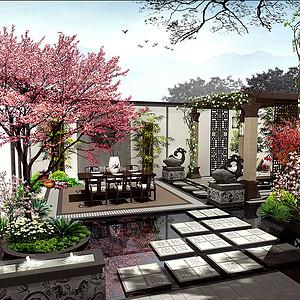 欧式风格装修效果图-花园阳台