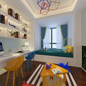 现代简约风格儿童书房