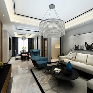 复地金融岛149平米四居室现代简约风格