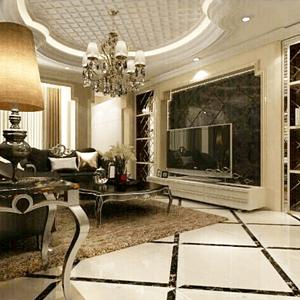 御龙湾新古典客厅装修效果图