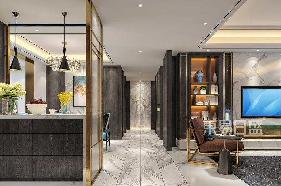 欧式古典风格连廊装修设计