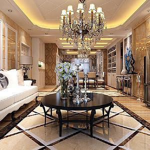 金座 古典法式装修效果图 三室二厅 145㎡
