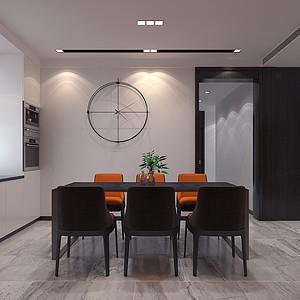 现代风格-餐厅-装修效果图