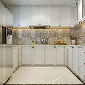 四居室-简美-厨房-效果图